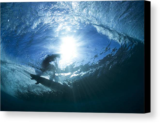 Perfect Surf Canvas Print featuring the photograph Surfing Into The Eye by Sean Davey