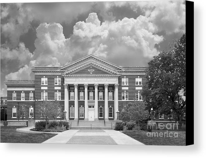 Albany Canvas Print featuring the photograph University At Albany Draper Hall by University Icons
