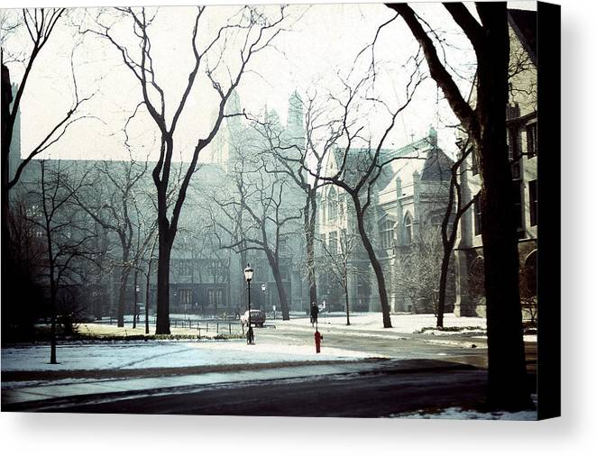 University Of Chicago Canvas Print featuring the photograph University Of Chicago 1976 by Joseph Duba