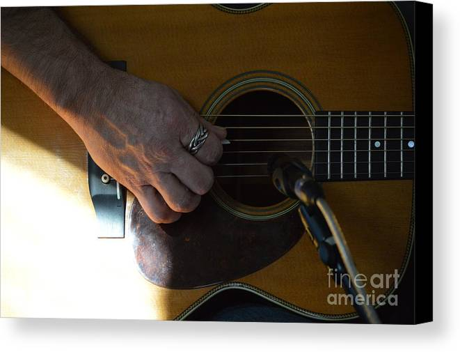 Music Canvas Print featuring the painting Untitled Detail by Alys Caviness-Gober