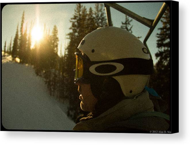 Skiing Canvas Print featuring the photograph Up The Mountain by Alan Nix