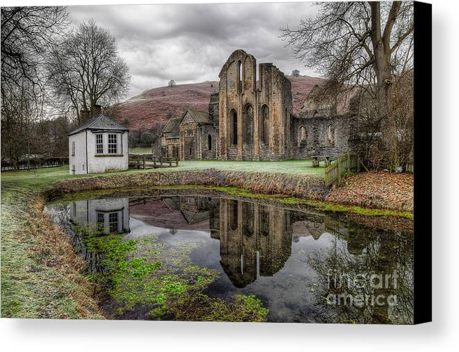 13th Century Canvas Print featuring the photograph Valle Crucis Abbey by Adrian Evans