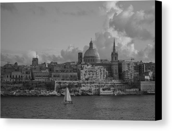 Canvas Print featuring the photograph Valletta by Charlene Zammit