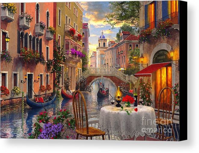 Venice Al Fresco Canvas Print Canvas Art By Dominic Davison