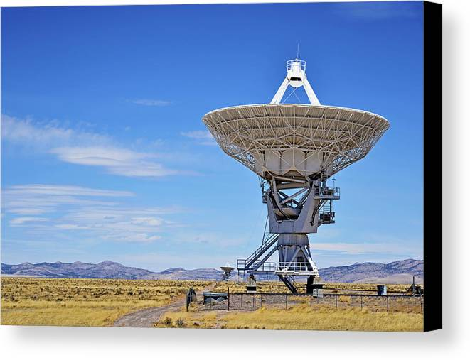 Very Large Array Canvas Print featuring the photograph Very Large Array - Vla - Radio Telescopes by Christine Till