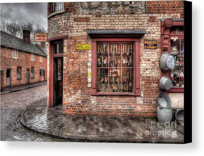 Architecture Canvas Print featuring the photograph Victorian Corner Shop by Adrian Evans