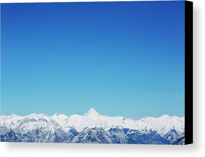 Winter Canvas Print featuring the photograph View From Sulphur Mountain by Gillian Williamson