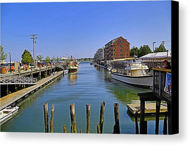 Bay Canvas Print featuring the photograph View From The Dock by John Hoey