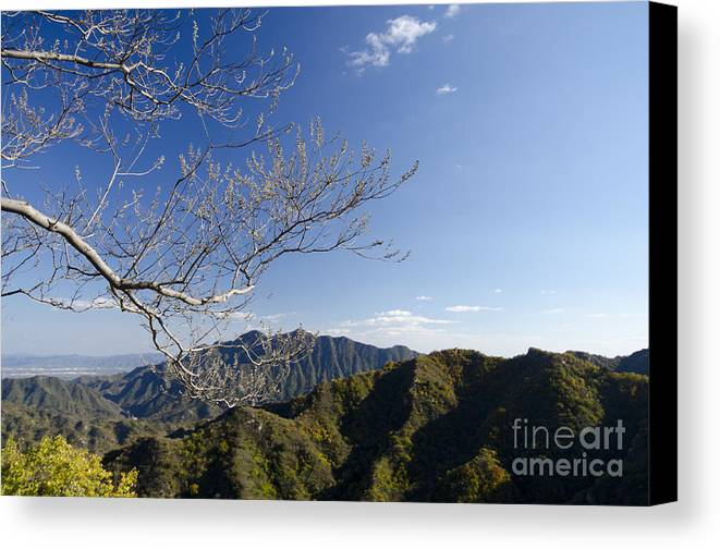 China Landscape Canvas Print featuring the photograph View From The Great Wall 842 by Terri Winkler