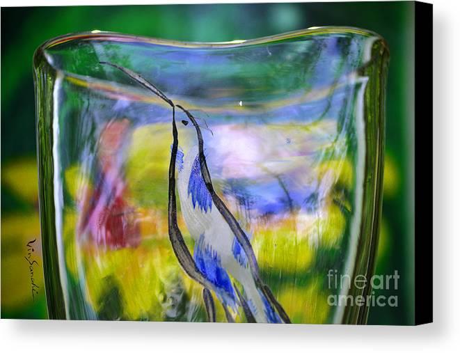 Nature Canvas Print featuring the glass art Vinsanchi Glass Art-1 by Vin Kitayama