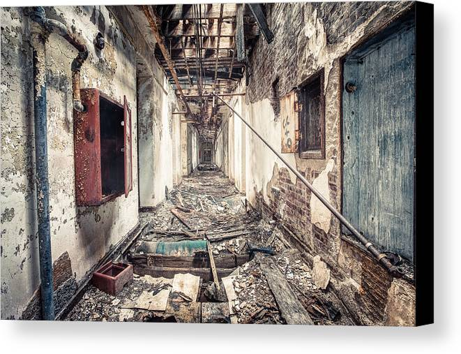 Abandoned Canvas Print featuring the photograph Walk Of Death - Abandoned Asylum by Gary Heller