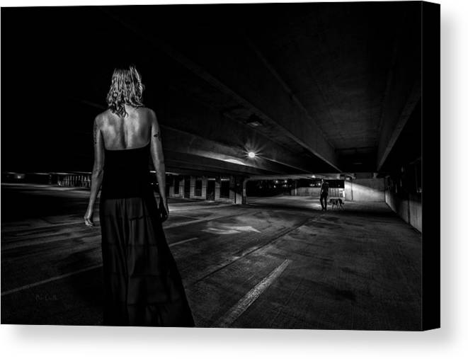 Afterdark Canvas Print featuring the photograph Walking The Dog by Bob Orsillo