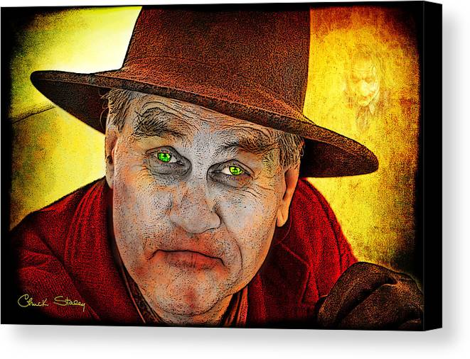 Evil Canvas Print featuring the photograph Wanna Be Friends? by Chuck Staley