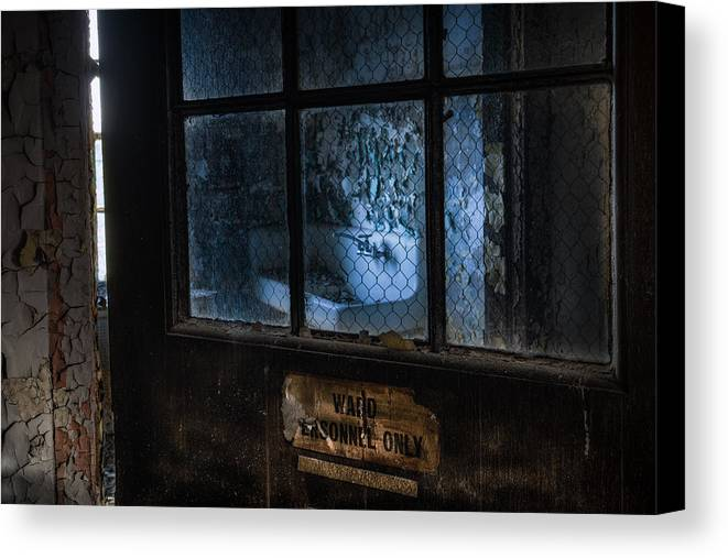 Abandoned Canvas Print featuring the photograph Ward Personnel Only by Gary Heller