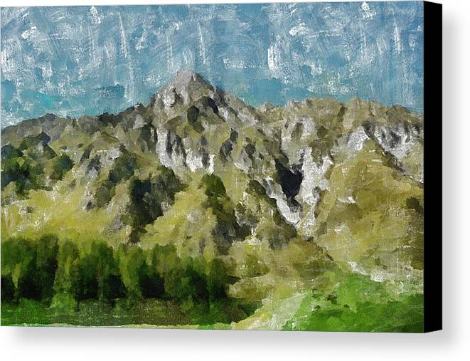 Valley Canvas Print featuring the painting Washed Out by Ayse Deniz