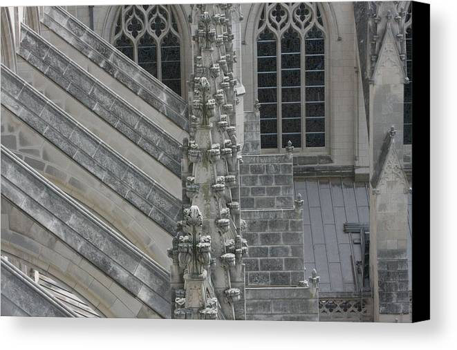 Alter Canvas Print featuring the photograph Washington National Cathedral - Washington Dc - 0113111 by DC Photographer