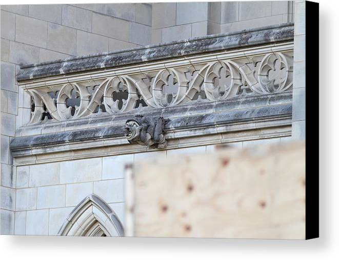 Alter Canvas Print featuring the photograph Washington National Cathedral - Washington Dc - 01134 by DC Photographer