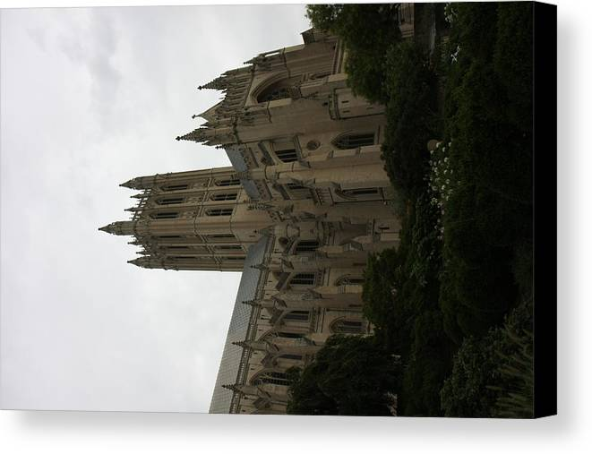 Alter Canvas Print featuring the photograph Washington National Cathedral - Washington Dc - 011351 by DC Photographer