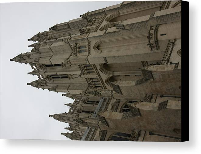Alter Canvas Print featuring the photograph Washington National Cathedral - Washington Dc - 011357 by DC Photographer
