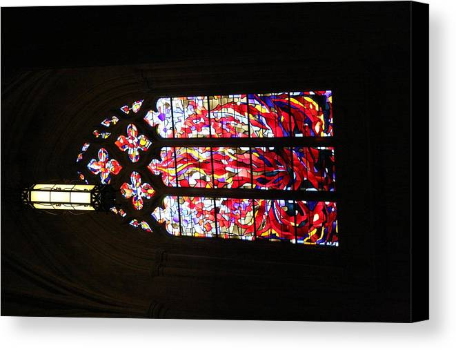 Alter Canvas Print featuring the photograph Washington National Cathedral - Washington Dc - 011377 by DC Photographer