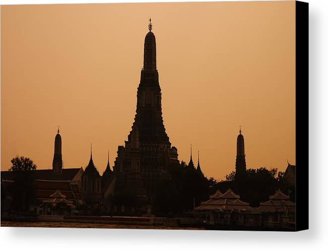 3scape Photos Canvas Print featuring the photograph Wat Arun by Adam Romanowicz
