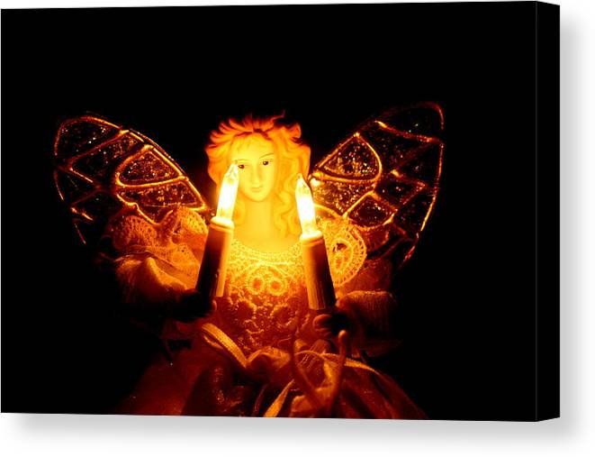 Angel Canvas Print featuring the photograph Watching Over by Kerri Huven