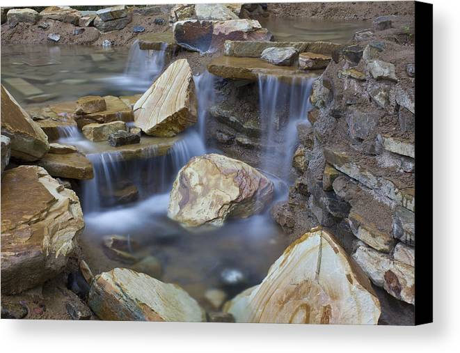 Rocky Water Fall Canvas Print featuring the photograph Water Fall by Cary Kennedy