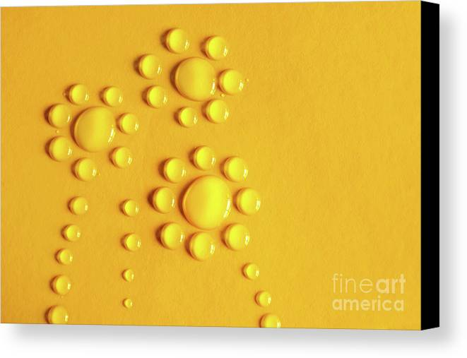 Abstract Canvas Print featuring the photograph Water Flowers by Carlos Caetano