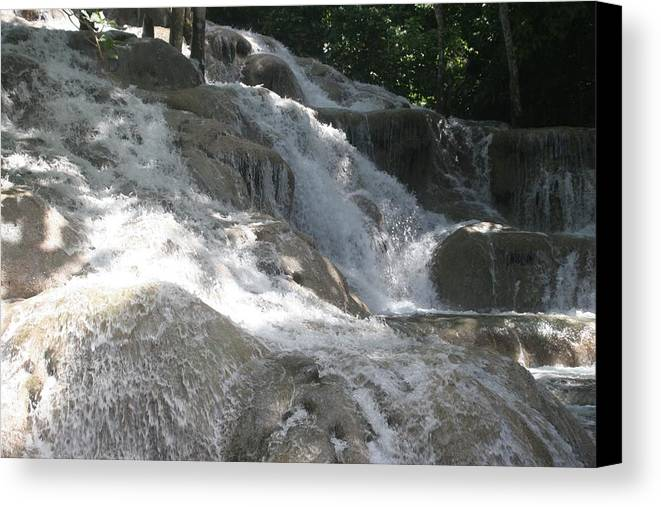 Water Fall Canvas Print featuring the photograph Waterfall by Dervent Wiltshire