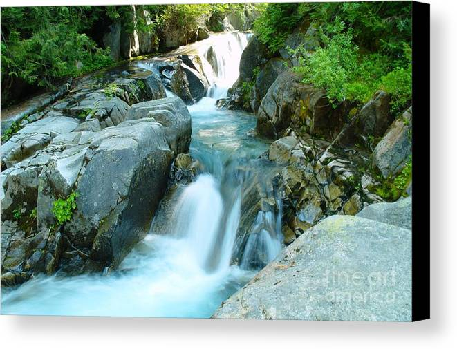 Water Canvas Print featuring the photograph Waterfall Near Paradise by Jeff Swan