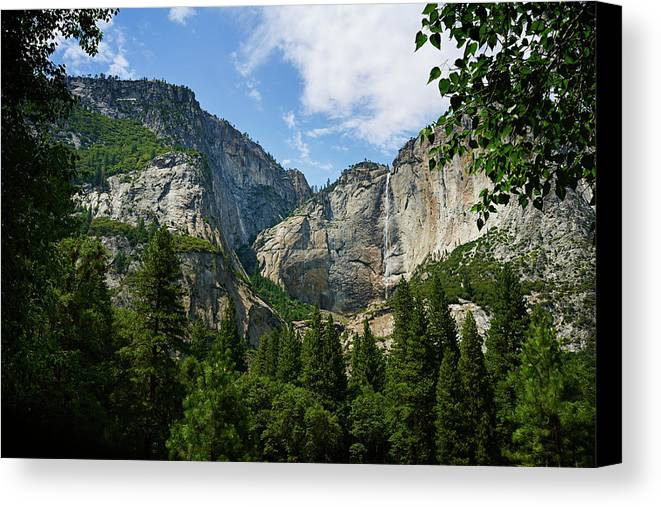 Yosemite Valley Canvas Print featuring the photograph Waterfall, Yosemite Valley, Yosemite by Daniel Alexander