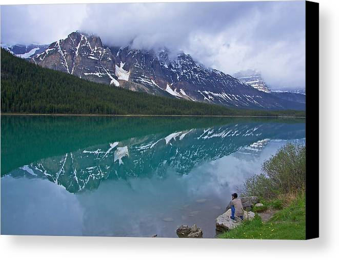 Waterfowl Lake Canvas Print featuring the photograph Waterfowl Lake by Stuart Litoff