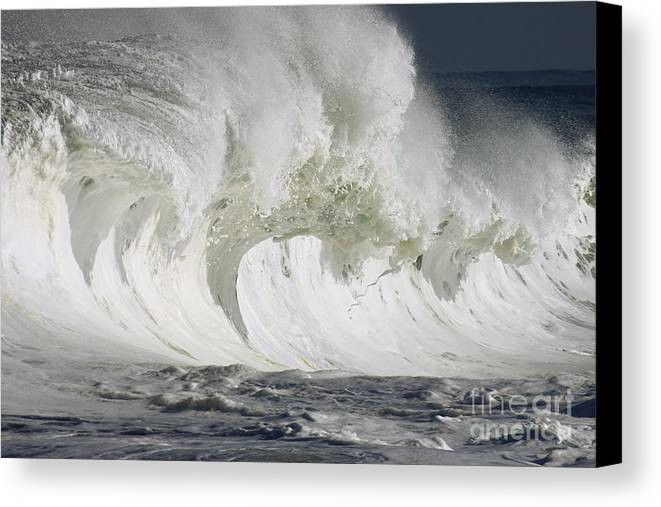 Beautiful Canvas Print featuring the photograph Wave Whitewash by Vince Cavataio