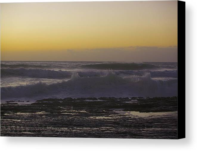 Waves Canvas Print featuring the photograph West Side Waves by Eddie Freeman