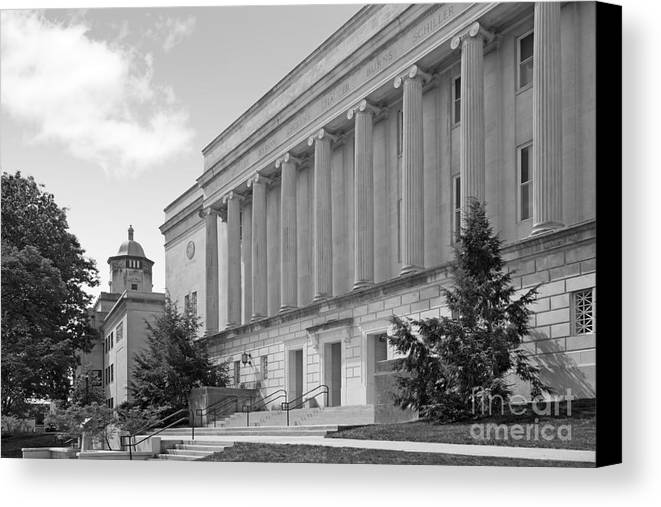 American Canvas Print featuring the photograph Western Kentucky University by University Icons