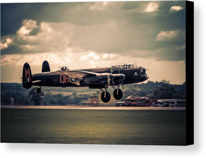 Lancaster Canvas Print featuring the photograph Wheels Up by Chris Smith
