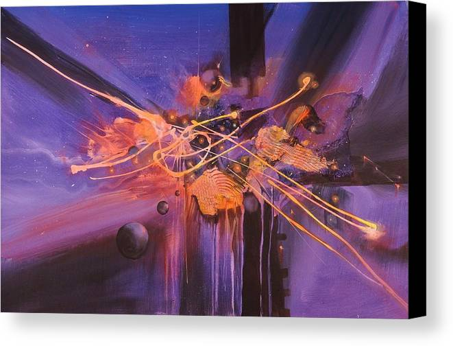 Abstract Art Canvas Print featuring the painting When Planets Align by Tom Shropshire