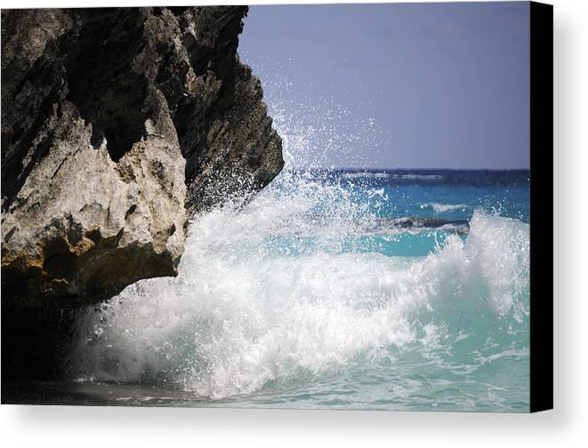 Bermuda Canvas Print featuring the photograph White Water Paradise by Luke Moore