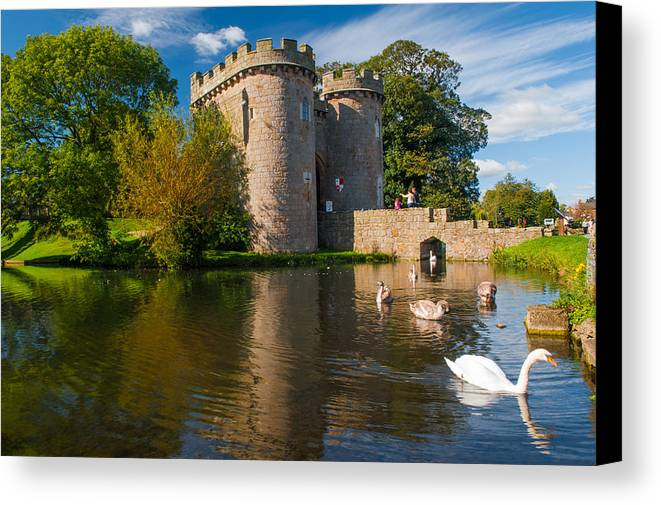 Shropshire Canvas Print featuring the photograph Whittington Castle by David Ross