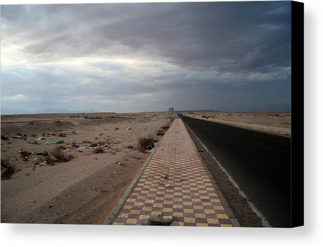 Jezcself Canvas Print featuring the photograph Who Knows What The Next Road Will Bring by Jez C Self