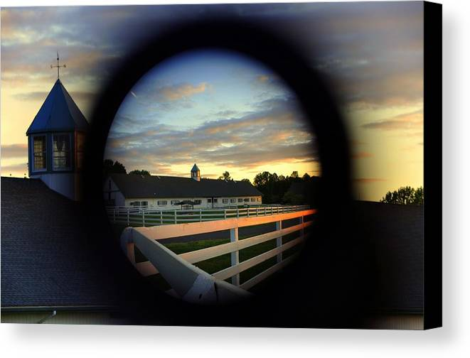 Abstract Canvas Print featuring the photograph Wide Angle Zoom by Mike Quinn