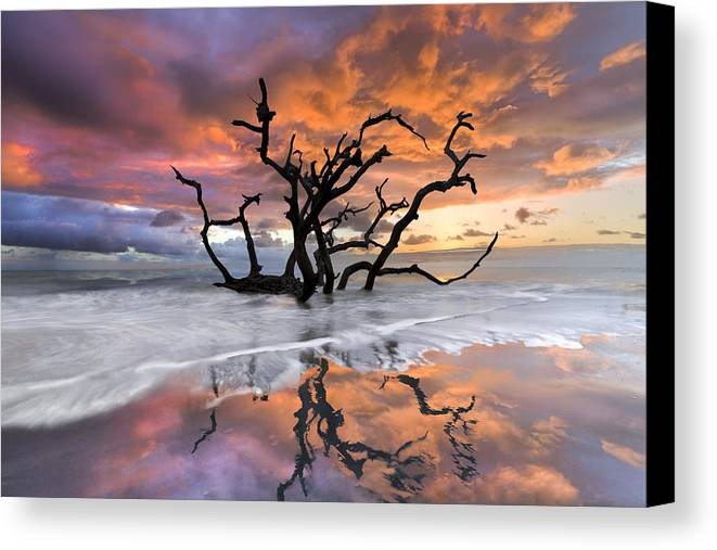 Clouds Canvas Print featuring the photograph Wildfire by Debra and Dave Vanderlaan
