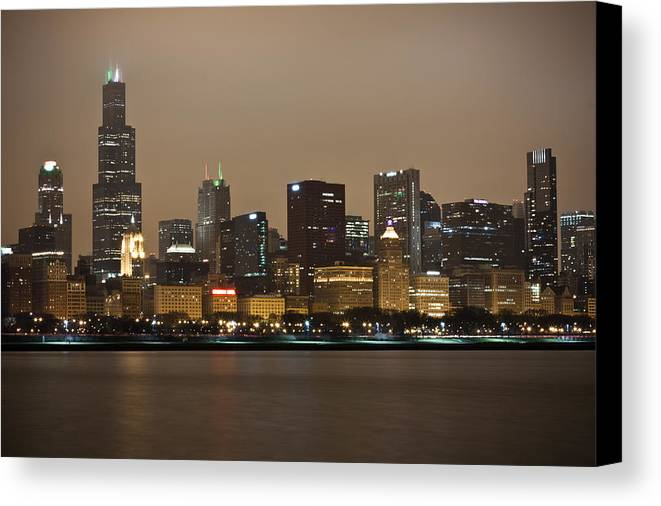 Chicago Canvas Print featuring the photograph Willis Tower In Fog by Anthony Doudt