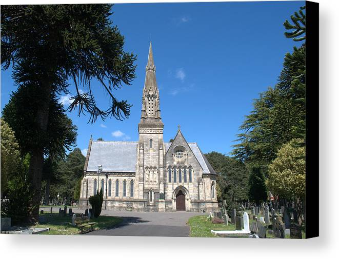 Chapel Canvas Print featuring the photograph Wimborne Road Cemetery by Chris Day