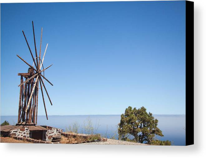 La Palma Canvas Print featuring the photograph Windmill by Ralf Kaiser