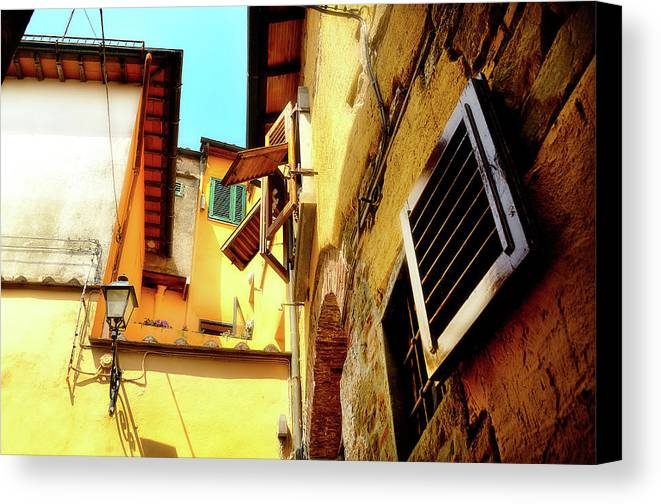 Scenic Canvas Print featuring the photograph Window Shutters by James David Phenicie