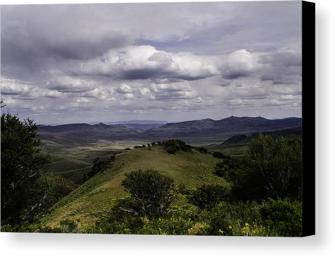 Nevada Canvas Print featuring the photograph Windy Gap Looking East 2 by Karen W Meyer