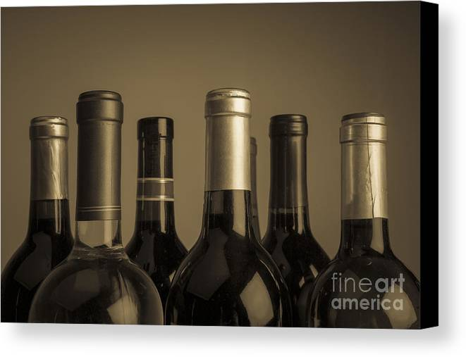 Wine Canvas Print featuring the photograph Wine Bottles by Diane Diederich