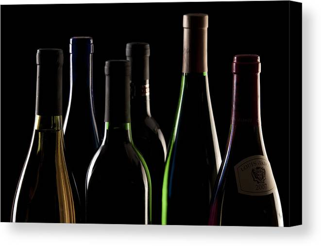 Wine Canvas Print featuring the photograph Wine Bottles by Tom Mc Nemar