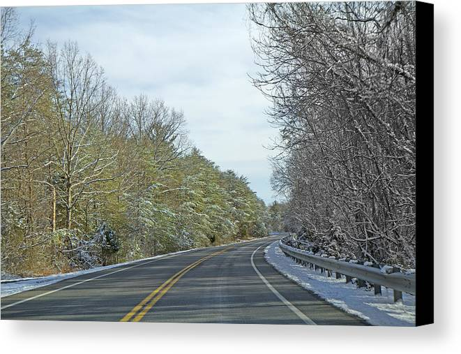 Country Canvas Print featuring the photograph Winter Cruise by Betsy Knapp
